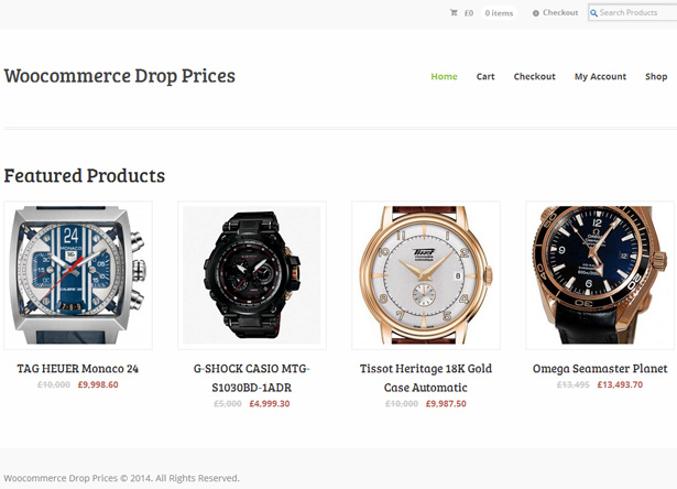 WooCommerce Drop / Raise Prices 2
