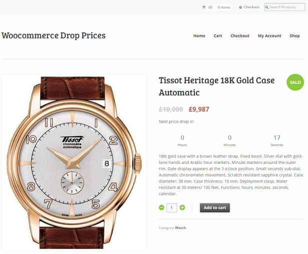 WooCommerce Drop / Raise Prices 3